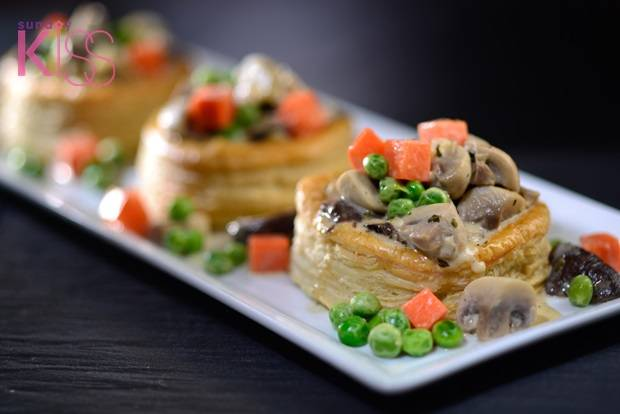 GBF - Puff pastry with mushroom ragout ______