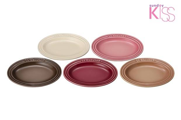set of 5 mini oval plates