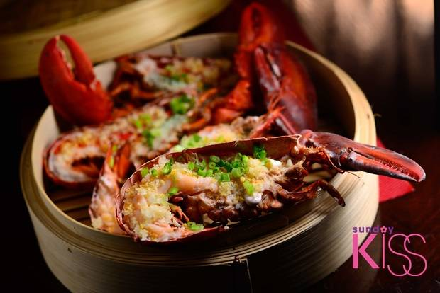 Steamed lobster with garlic________1