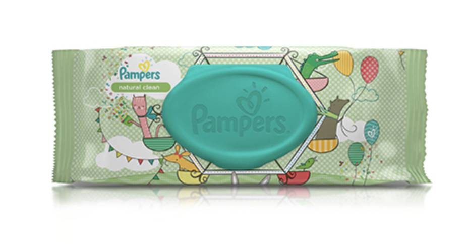 Pampers® Natural Clean Wipes by Proctor & Gamble