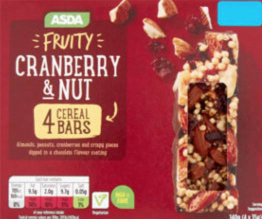 Cranberry and Nut Cereal Bars 能量棒