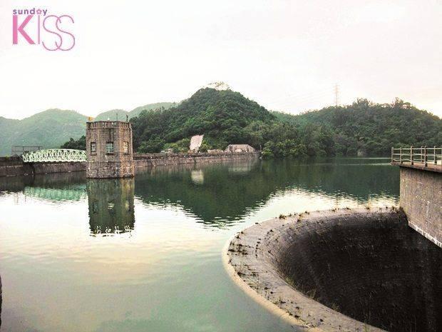 當行到城門水塘主壩時,提示離終點在前不遠。