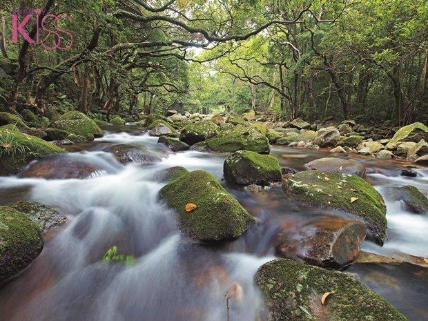 潺潺流水也是此路征的特色之一。