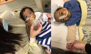 1歲B女小鎧澄換肝手術成功  新年回家見孖生妹妹團聚