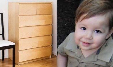 IKEA(宜家家居)座地抽屜櫃壓死加州2歲男童  需賠償約3.6億港元 |家居安全指引