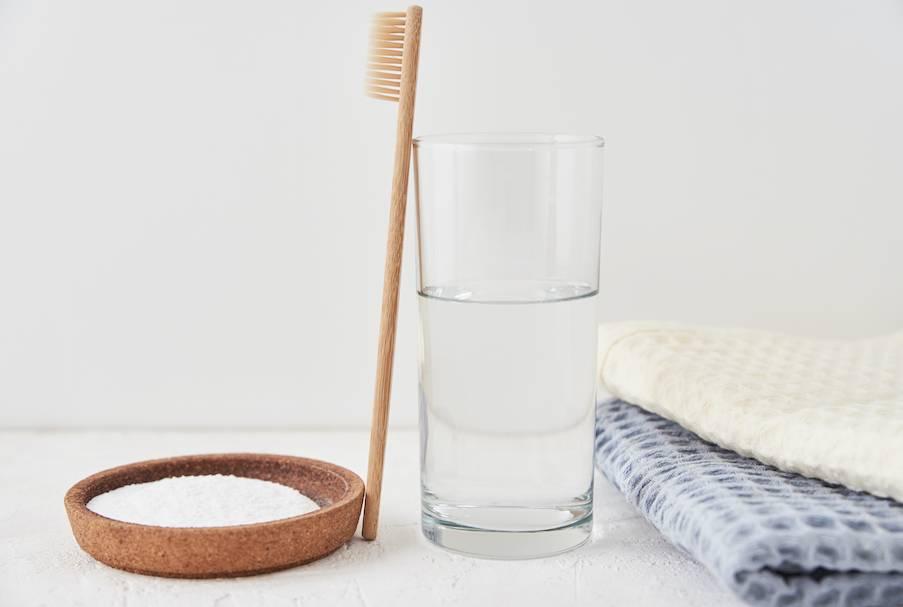 洗毛巾方法2. 用醋與梳打粉去味