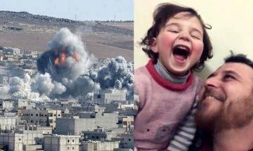 敘利亞父親助女兒笑看逆境 以聯想遊戲克服爆炸巨響