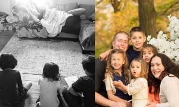 神隊友一招令四兄妹乖乖不吵鬧 外國媽媽托湊仔 老公還可悠閒午睡