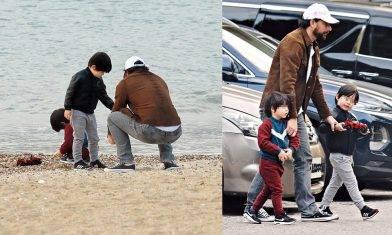 45歲周汶錡法籍老公被踢爆偷食    斷正2日後扮演好爸爸陪仔去沙灘