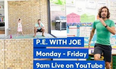 【在家運動】英國知名YouTuber變身PE老師  網上每日30分鐘教學 陪孩子做運動