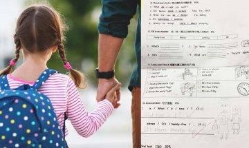 父兼母職 自責無法實現女兒願望 100分試卷畫公仔表達對亡母的思念