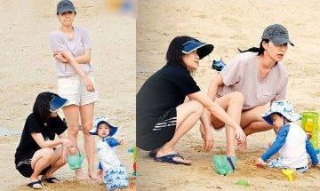 34歲吳雨霏帶餅印仔女沙灘放電 仔女出世 全面停工專注照顧家庭