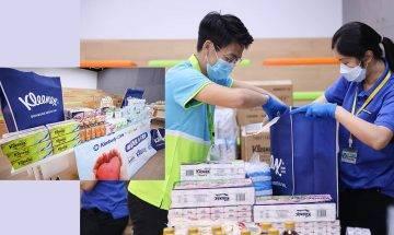 金佰利與HKTVmall合作捐50萬防疫物資   透過惜食堂派予逾2,400有需要家庭|抗疫特集