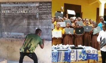 非洲老師手繪電腦介面授課6年 其教學熱誠獲Microsoft贈電腦支持