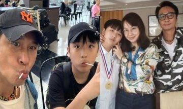 58歲吳鎮宇兒子畢業晒溫馨全家福 囝囝創意大爆發 愛紀錄生活片段