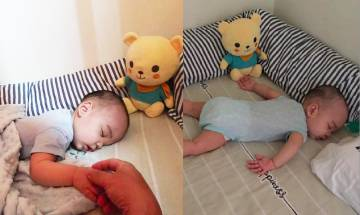 爸爸自願哄兒子睡覺 讓愛妻好好休息