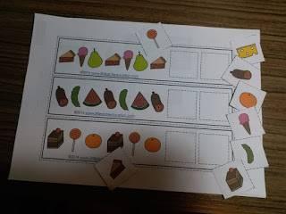 家長只需要彩色打印出來,之後將需要序列的小圖案預先剪好,就可以啦!