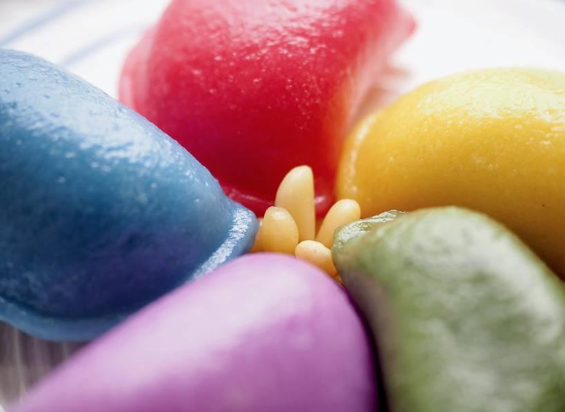 情人節甜品食譜9:七彩心心糯米丸子