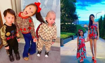 44歲台女星關穎5歲女兒帶過萬元名牌BVLGARI首飾