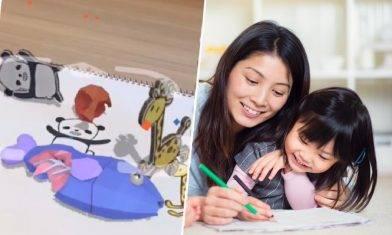 人氣RakugakiAR手機App 把孩子的畫作實境化 跳舞兼四圍跑 一文學識與平面公仔互動