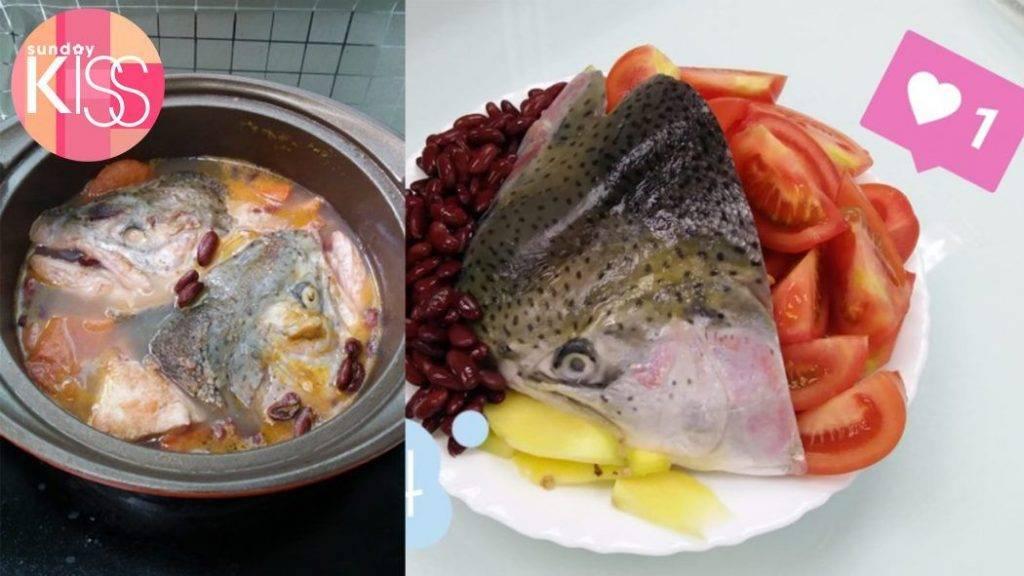 坐月湯水食譜2:三文魚頭蕃茄紅腰豆湯