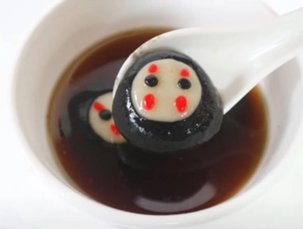 中秋節湯圓食譜:無臉男芝麻湯圓
