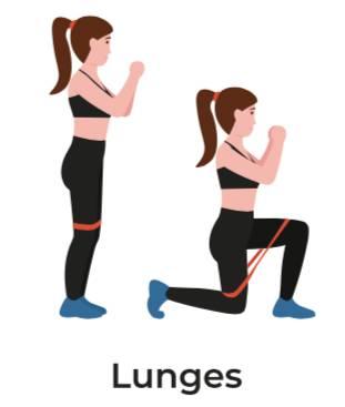 彈力帶運動3:弓箭步