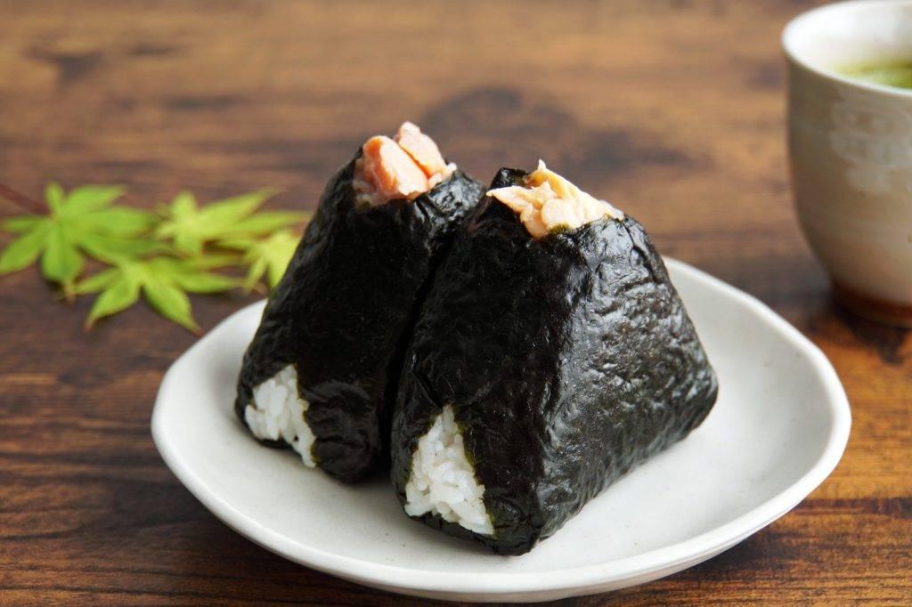 三文魚蓮藕香菇飯糰