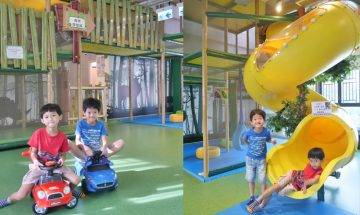 青蔥樂園$50/小時1大1小  2米螺旋型大滑梯+繩網+免費工作坊|親子好去處