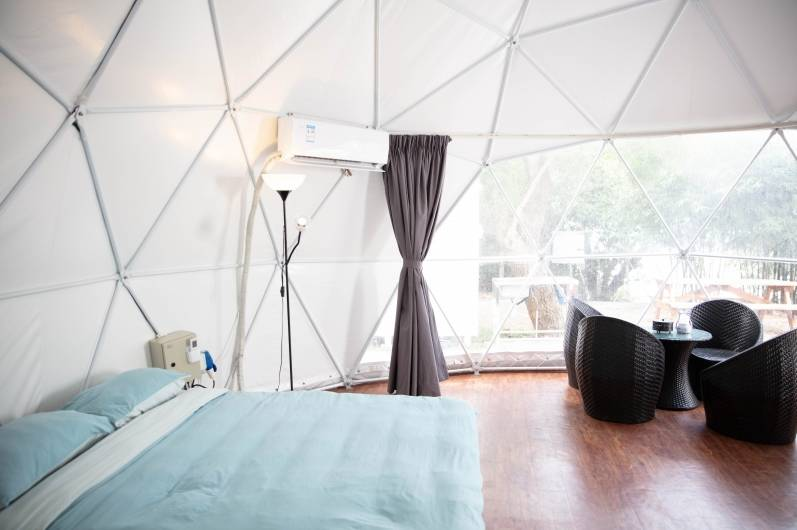 觀星圓拱屋可容4人(圖片來源:Saiyuen Camping & Adventure Park 西園 特色露營歷奇樂園)