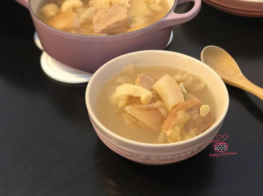 大雪湯水食譜2.蘋果雪梨雪耳無花果瘦肉湯