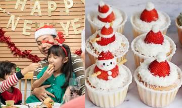 聖誕甜品食譜4款-家中自製蜂蜜煉奶味蛋糕 聖誕老人+聖誕帽+聖誕樹