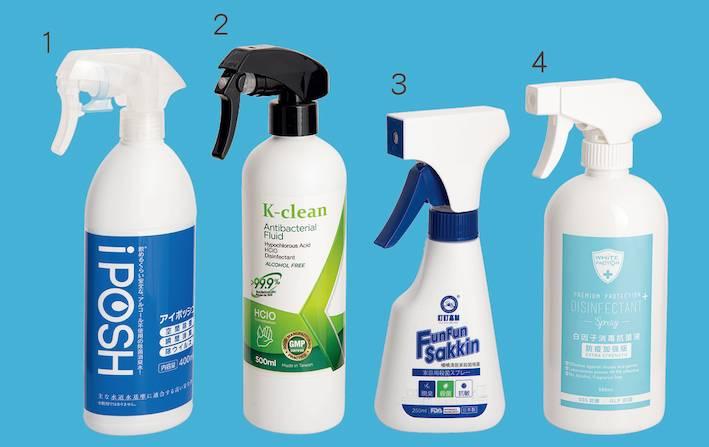 「iPOSH」(#1)、「K-clean」(#2)、「日本 叮叮」(#3)、「白因子」(#4)