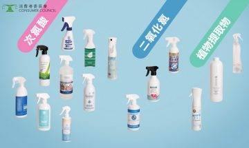 消委會消毒噴劑評測|2款消毒噴霧殺菌效能只有三成!8款殺菌率超過90%