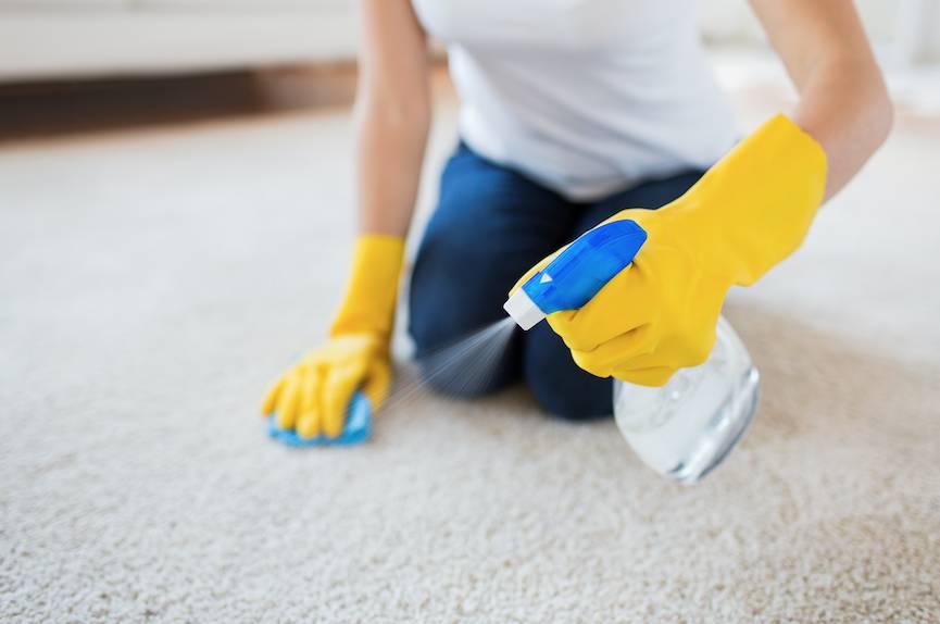 地毯清潔方法3. 去除蠟質(如唇膏、蠟筆)或油性(如朱古力、食用油)污漬