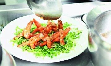 蒜片美極煎大蝦