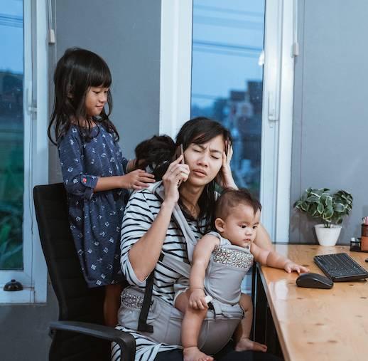 在職媽媽呻老公幫唔到手(示意圖)