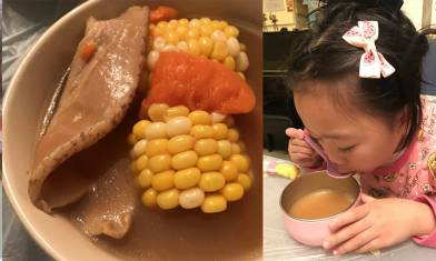 健脾養顏 日月魚螺片粟米蘿蔔湯