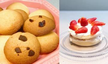 簡單食譜|實測2款預拌粉!超濃香牛油曲奇餅+士多啤梨海綿蛋糕1歲BB都食得