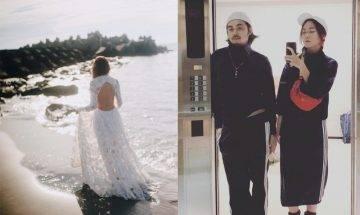 蔣雅文離婚|突貼婚紗背影照 與台灣老公不敵7年之癢