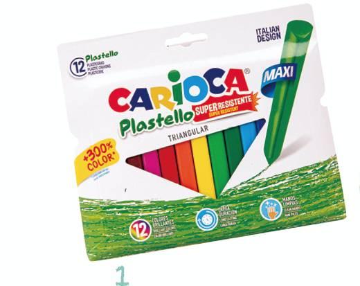 CARIOCA – Plastic Crayons – Triangular(Art. 42671)  (5星)