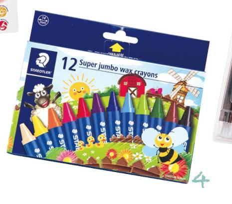 STAEDTLER – Super jumbo wax crayons(Art. Nr. 2260 NC12) (5星)