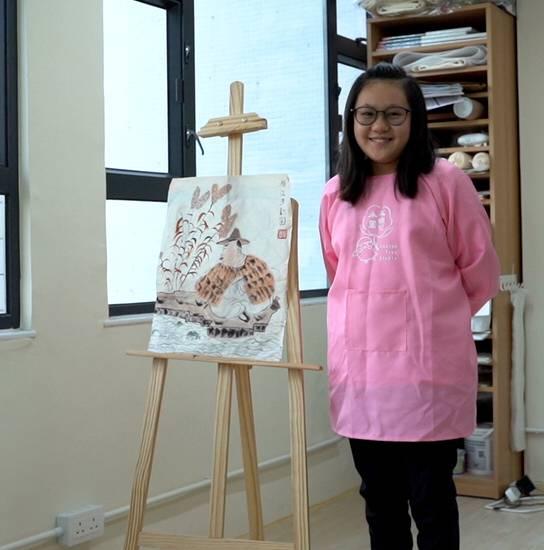 11歲黃楚喬學畫1年2個月(元朗公立中學校友會小學P6)