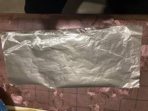 錫紙的大小。
