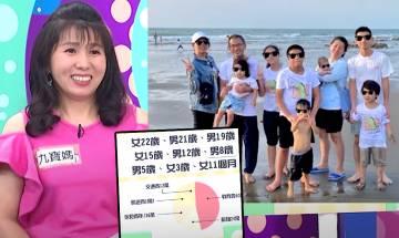 多子家庭開支公開!9孩媽解釋一直生原因 最終夢想成真