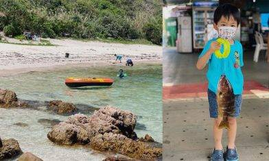 魚排3萬尺釣魚+外島沙灘玻璃水浮潛 小童80蚊玩足一日