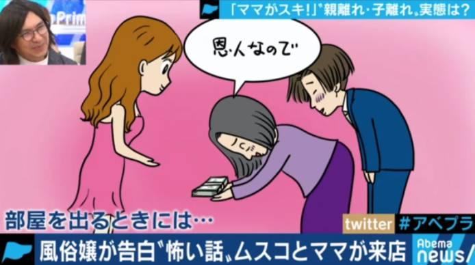 第一次行房要帶媽媽在旁(日本節目《AbemaPrime》電視截圖)