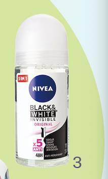 Nivea Black & White Invisible(4.5分;.1)(圖片來源:消費者委員會)