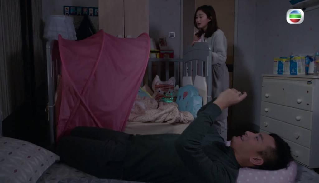 《寶寶大過天》岑麗香鬧爆豬隊友馬國明(圖片來源:TVB劇集《寶寶大過天》電視截圖)