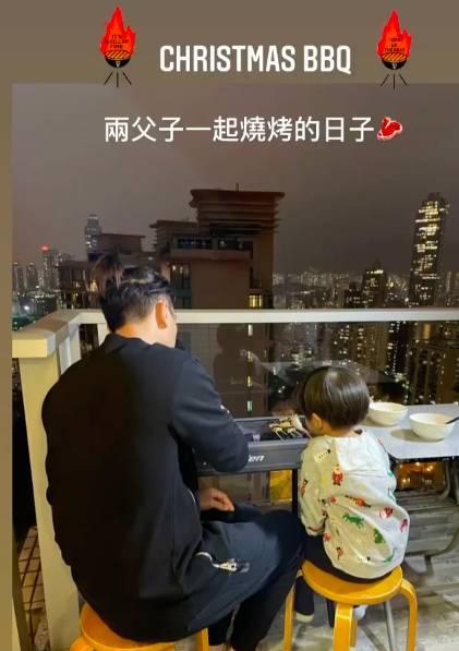 黎諾懿豪宅為複式單位,父子二人曾在天台BBQ。(圖片來源:黎諾懿IG)